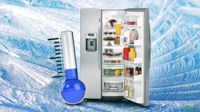 خنک نبودن یخچال فریزر