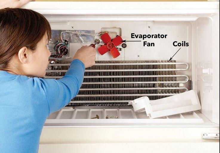 باز کردن فن اواپراتور یخچال