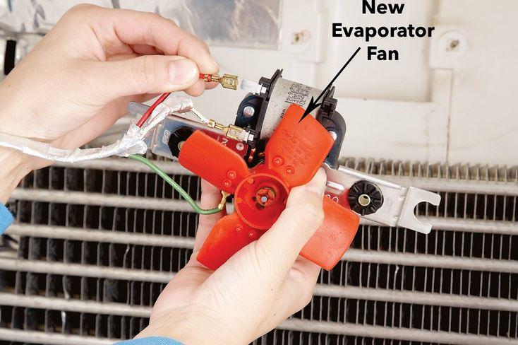 نصب فن اواپراتور یخچال